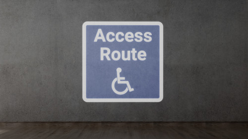 ADA Access Route with Icon - SignCast S200 Virtual Sign