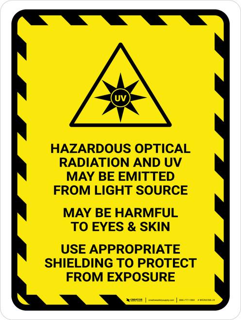 ISO Hazardous Optical Radiation Portrait - Wall Sign