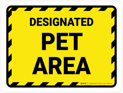 Designated Pet Area Landscape - Wall Sign