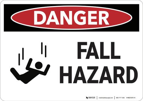 Danger: Fall Hazard - Wall Sign