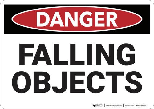 Danger: Falling Objects - Wall Sign