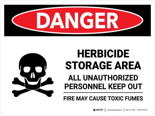Danger: Herbicide Storage Area All Landscape - Wall Sign