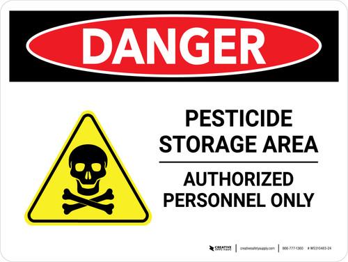 Danger: Pesticide Storage Area Authorised Landscape - Wall Sign