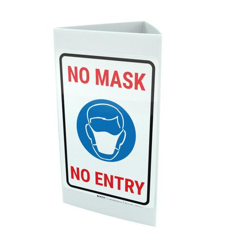 No Mask - No Entry Landscape - Tri-fold Sign