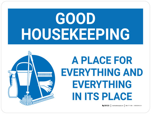 Good Housekeeping A Place For Everything Landscape with Graphic - Wall Sign