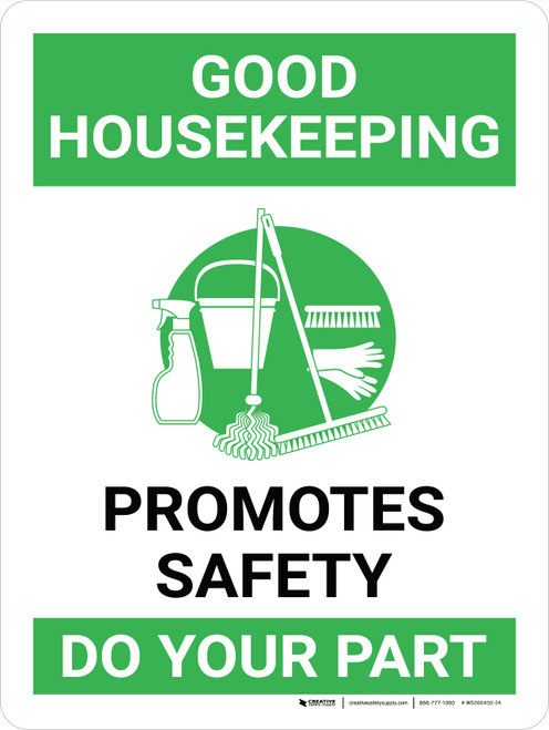 Good Housekeeping Promotes Safety Portrait with Graphic