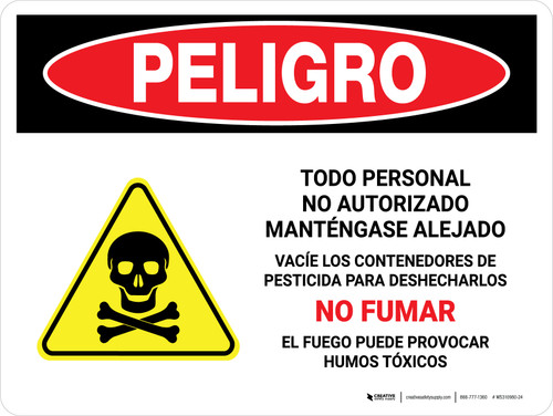 Danger: All Unauthorized Personnel Keep Out Empty Spanish Landscape - Wall Sign
