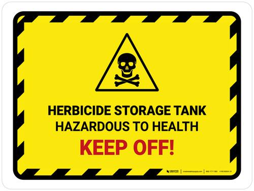 Herbicide Storage Tank Landscape - Wall Sign