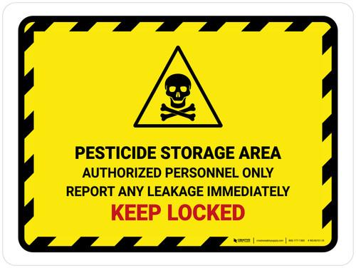 Pesticide Storage Area Authorized Personnel Landscape - Wall Sign