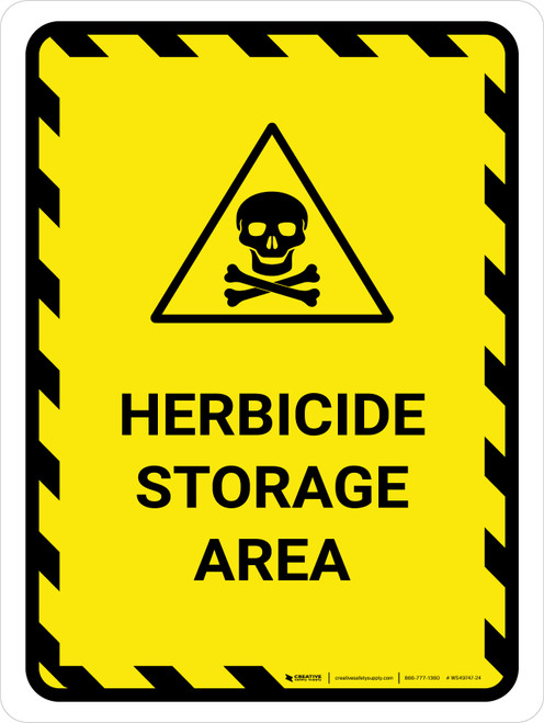 Herbicide Storage Area Portrait - Wall Sign