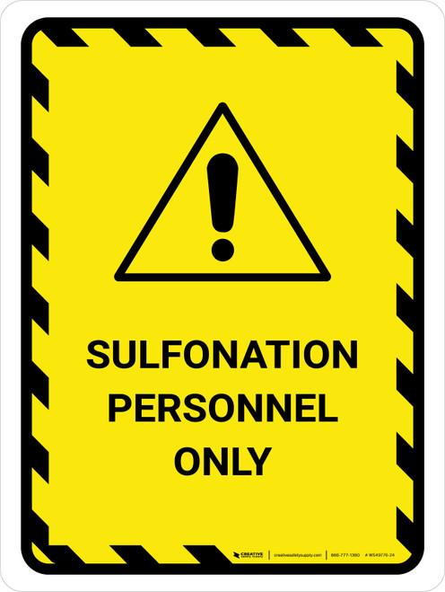 Sulfonation Personnel Only Portrait - Wall Sign