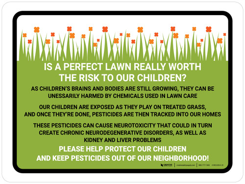 Is A Perfect Lawn Really Worth The Risk Landscape - Wall Sign