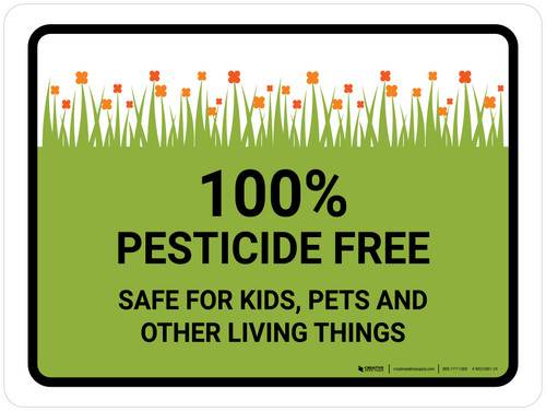 Pesticide Free Safe Landscape - Wall Sign