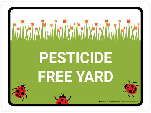 Pesticide Free Yard Landscape - Wall Sign