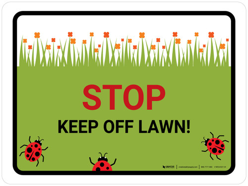 Keep Off Lawn Landscape - Wall Sign