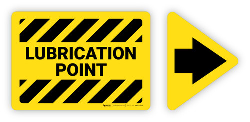 Lubrication Point Label with Arrow