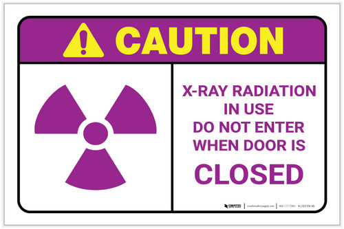 Caution: X Ray Radiation Landscape - Label