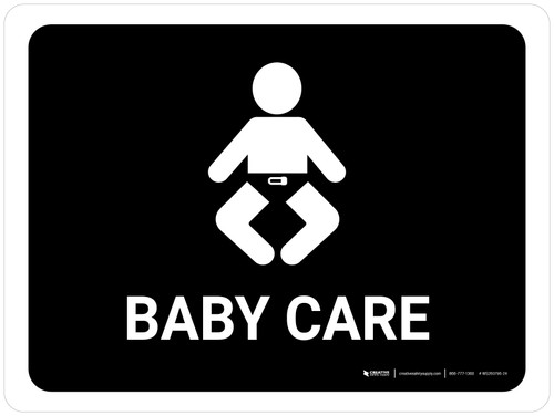 Baby Care Black Landscape - Wall Sign