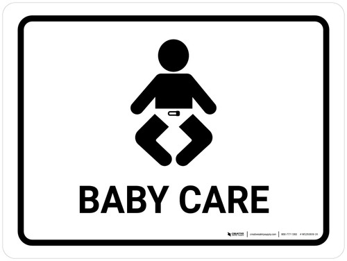 Baby Care White Landscape - Wall Sign