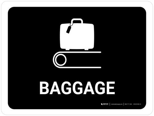 Baggage Black Landscape - Wall Sign