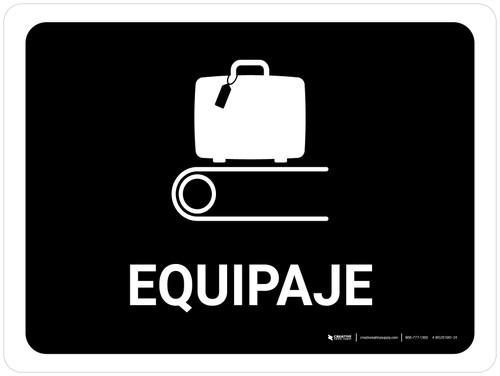 Baggage Black Spanish Landscape - Wall Sign