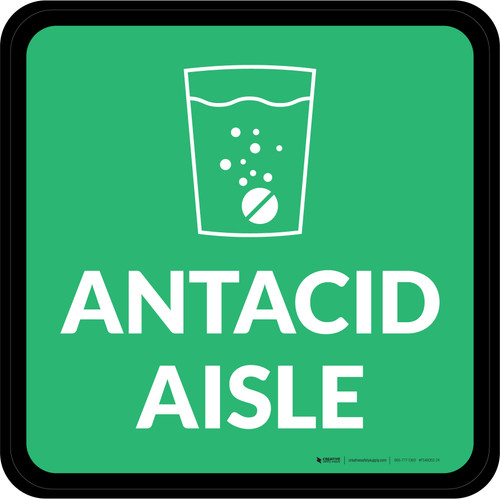Antacid Aisle with Icon Square - Floor Sign