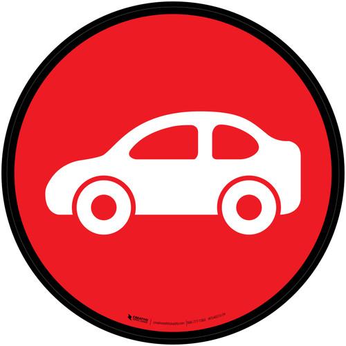 Auto Icon Circle - Floor Sign