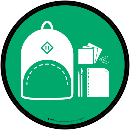 Back to School Icon Circle - Floor Sign
