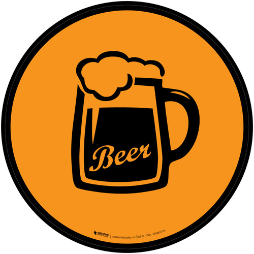 Beer Icon Circle - Floor Sign
