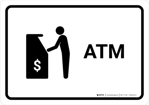 ATM White Landscape - Wall Sign