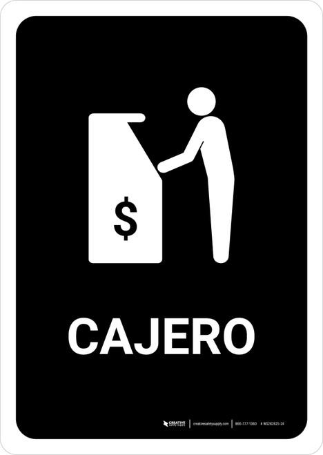 ATM Black Spanish Portrait - Wall Sign