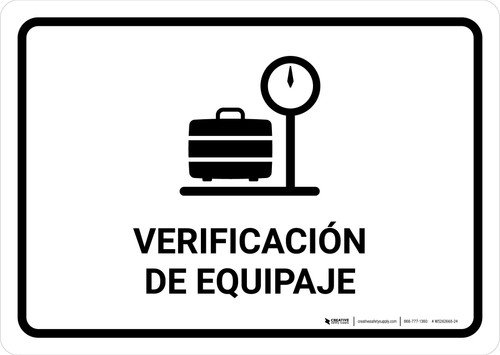 Baggage Check White Spanish Landscape - Wall Sign