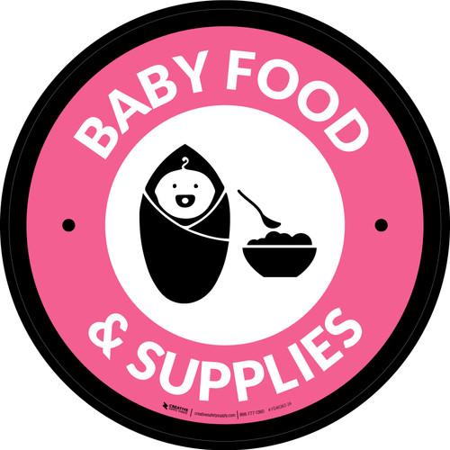Baby Food & Supplies Circle - Floor Sign