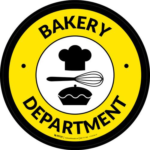Bakery Department Retail Circle - Floor Sign