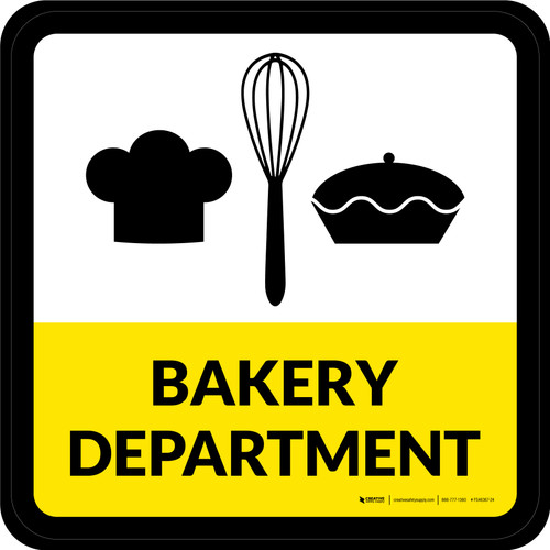 Bakery Department Square - Floor Sign
