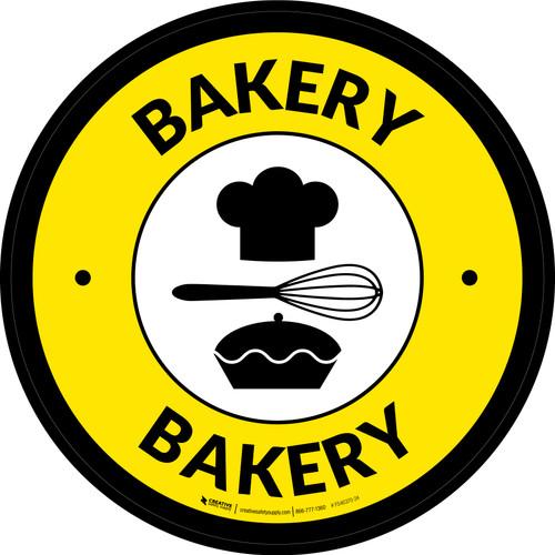 Bakery Retail Circle - Floor Sign