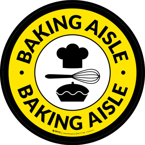 Baking Aisle Retail Circle - Floor Sign