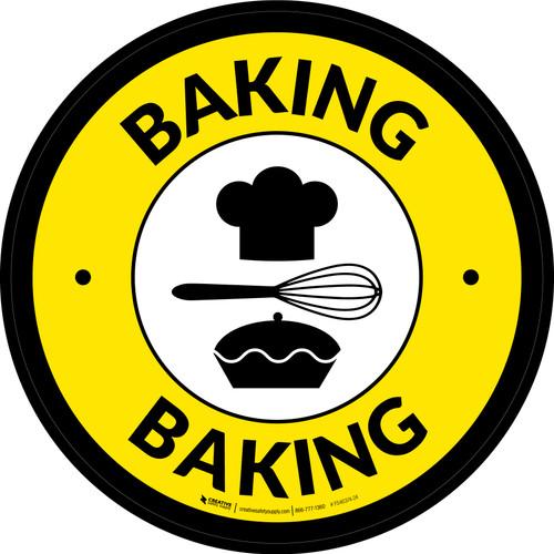 Baking Retail Circle - Floor Sign
