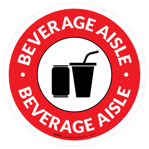 Beverage Aisle Circle - Floor Sign