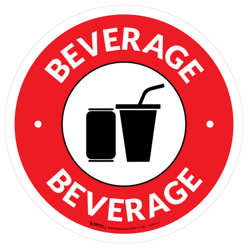 Beverage Circle - Floor Sign