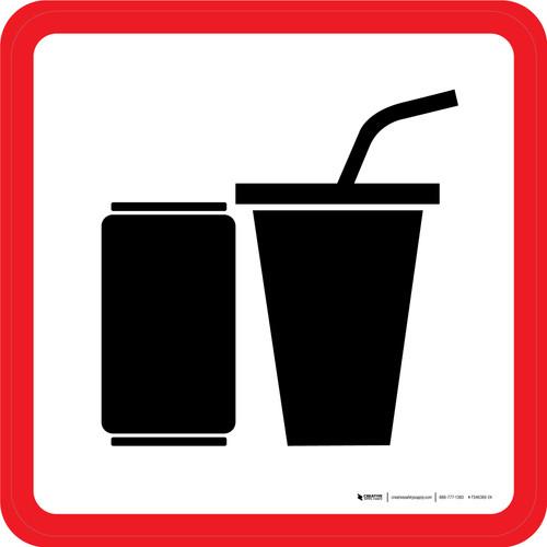 Beverage Graphic Square - Floor Sign