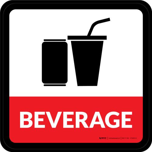 Beverage Square - Floor Sign