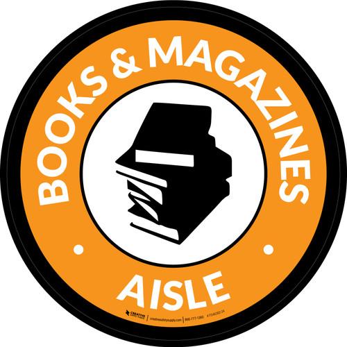 Books & Magazines Aisle Circle - Floor Sign