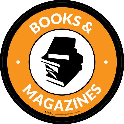 Books & Magazines Circle - Floor Sign