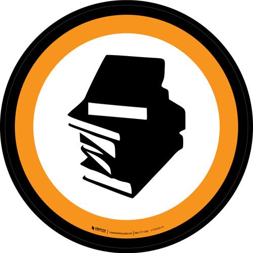 Books & Magazines Graphic Circle - Floor Sign