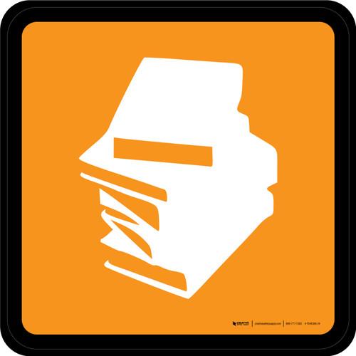 Books & Magazines Graphic Square - Floor Sign