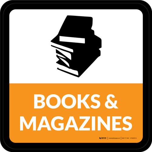 Books & Magazines Square - Floor Sign