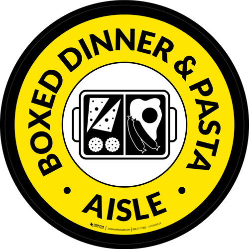 Boxed Dinner & Pasta Aisle Circle - Floor Sign