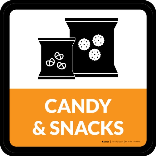 Candy & Snacks Square - Floor Sign