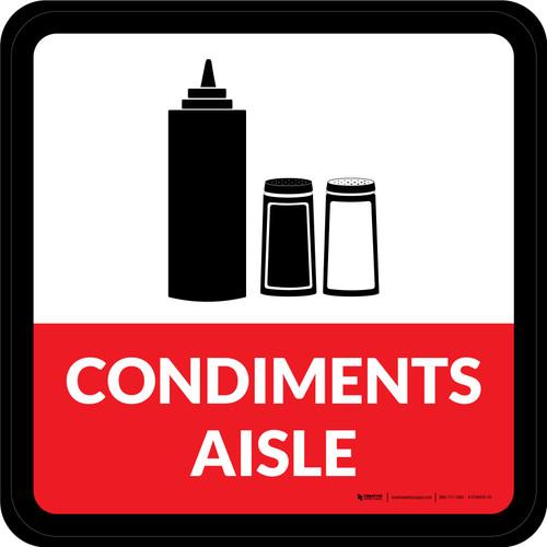 Condiments Aisle Square - Floor Sign